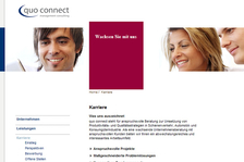 www.quoconnect.de - Webdesign Umsetzung mit XHTML & CSS, Typo3 Website & Extensions, JavaScript Tools, Beratung & Betreuung