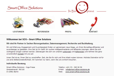 www.smart-office-solutions.de - Konzeption Website, Screendesign, Webdesign Umsetzung in XHTML & CSS, Beratung & Betreuung