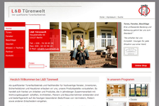 www.lb-tuerenwelt.de - Neukonzeption, Screendesign, Redesign Website, Templates XHTML & CSS, Umsetzung Typo3, Online-Shop